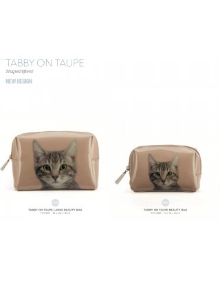 Neceser chica tabby taupe
