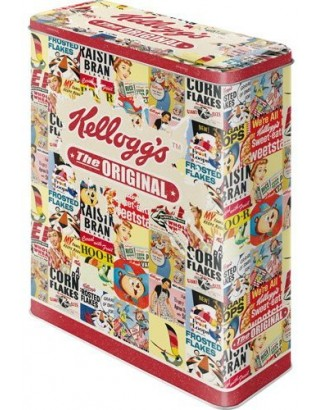 Caja metal decorada kellogs