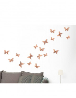 Decoracion pared mariposas metal 9 ud